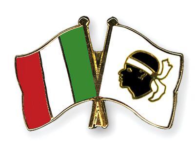 drapeaux corse et italien